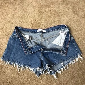 Tommy Hilfiger Jean Shorts Ripped Size 6
